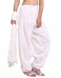 Jaipur Kurti Pure Cotton Off White Patiala Salwar and Dupatta Set