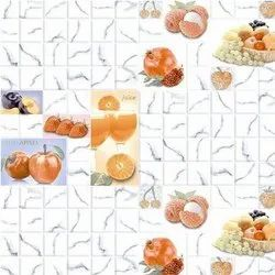 Flores Ceramic Designer Kitchen Tile, Packaging Type: Box, Thickness: 10 mm