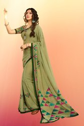 Georgette Sarees With Lace Border