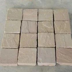 Raj Green Sandstone Cobbles, For Landscaping
