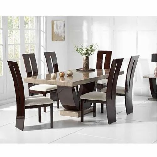 Stylish Marble Dining Table Set, Marble Dining Room Table