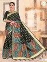 Present Kashmiri Silk Saree With Rich Pallu With Desining Blouse Piece
