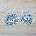 925 Sterling Silver Jewelry Plain Silver Earring WE-5905