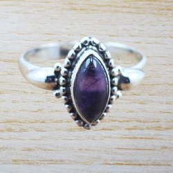 925 Sterling Silver Jewelry Amethyst Gemstone Handmade Ring WR-5027