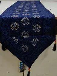 Aaditya Multicolor Jaipuri Hand Block Print Cotton Table Runner, Size: 14*90