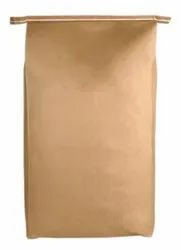Brown Kraft Paper hdpe Laminated Open Mouth Bags, For Grocery, Bag Size: 24