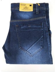 Plain Blue Mens Stretch Denim Jeans, Waist Size: 28-32