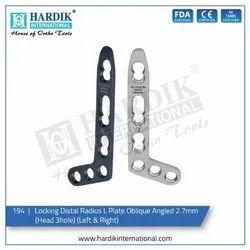 Locking Distal Radius L Plate Oblique Angled 2.7mm (Head 3H)