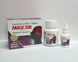 Herbal Medicine For Migraine & Headache 60 Tab   20ml Oil