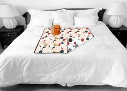Multicolor PVC Dot Printed Bed Server, For Home, Size: 36*36 Inch