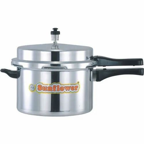 Sunflower Silver 12 L Aluminium Pressure Cooker, For Home