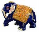 Nirmala Handicrafts Exporter Metal Meenakari T/D Elephant Figurine Handmade Enamel Work Showpiece
