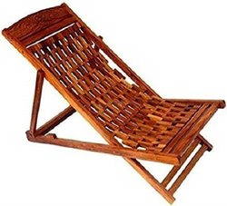 Elburs Brown Sheesham Folding Garden Chair