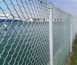 Silver Galvanized Iron Wire Mesh Fence