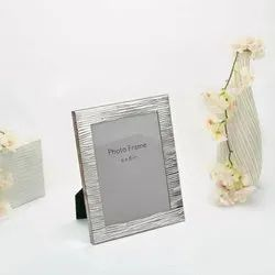 Fluted Facet Finish Silver Photo Frame, Size-6x8