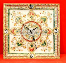 Square Designer Handicraft Marble Tile, For Decoration, Size: 12 Inch