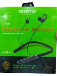 Black Plastic ORAIMO Neckless Wireless Headset, Model Name/Number: Necklace-2
