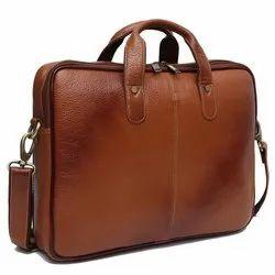 Brown Leather Laptop File Bag