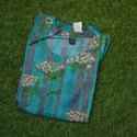 Casual Wear Straight Full Sleeve Floral Printed Rayon Kurti, Wash Care: Dry Clean