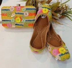 Latest Collection Of Punjabi Jutti With Matching Clutch