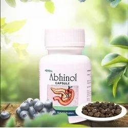 Aryan Pharma Herbal Abhinol Capsule, For Diabetes, Packaging Type: Plastic Bottle