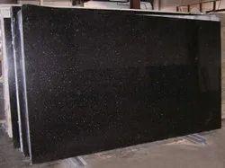 Polished Big Slab Black Galaxy Granite, For Countertops, Thickness: 18 mm