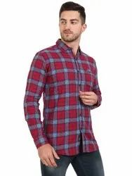 AADHAR Cotton Men Casual Check Shirt, Size: M To Xxl