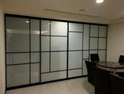 Transparent Fix Glass Slim Profile Partition System, Size/dimension: 1000mm