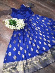 Self Made Multicolor Banarasi Gown