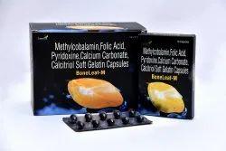 Methylcobalamine,Folic Acid,Pyridoxine,Calcium Carbonate,Calcitrol Soft Gel