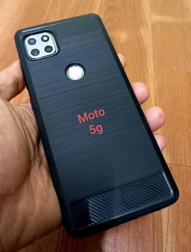 Plastic Moto 5g Black Plain Mobile Cover