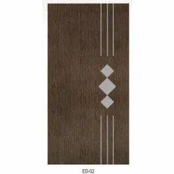 Brown Printed Polished PVC Door