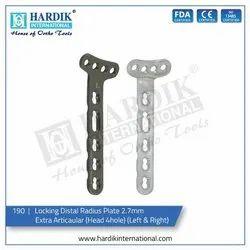 Locking Distal Radius Plate 2.7mm Extra Articaular (Head 4 H