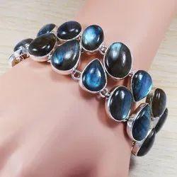 Labradorite Gemstone 925 Sterling Handmade Bracelet SJWB-245