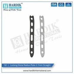 Locking Distal Radius Plate 2.7mm Straight