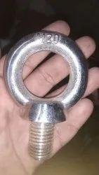 Black Mild Steel M 20 Eye Bolt, For Industrial, Size/Capacity: 1 Ton