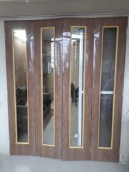 Brown Wood Glass Window, Size/Dimension: 80x33 Inch
