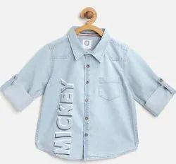 Denim Blue Kids Boy Shirt, Size: 28.0