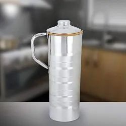 Silver Bronze Steel Water Jug, For Home, Capacity: 2 L
