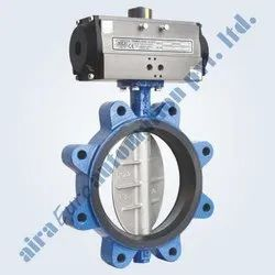 Pneumatic Rubber Lined Butterfly Valve Lug Type