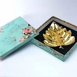 Banana Leaf Gold Platter (Small)
