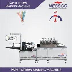 Automatic 3 Phasse Nessco Bio Degradable Paper Straw Making Machine