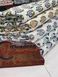 Sanganeri Block Printed Fabric