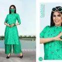 Rayon 14 Kg Printed Readymade Kurti With Plazzo - 8 Pcs Set