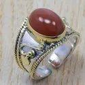 925 Silver And Brass Jewelry Tiger Eye Gemstone Adjustable Nice Ring SJWR-315