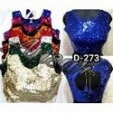 Silk Fashion Sequins Blouse