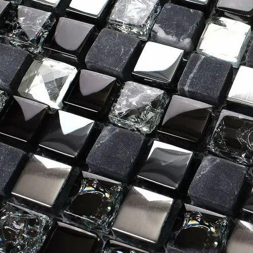 Kitchen Crystal Glass Mosaic Back Splash  Tiles