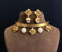 Golden Brass Fusion Fashion Necklace