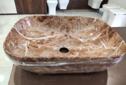 ZAFOZON Square Ceramic Wash Basin, For Bathroom, Model Name/Number: B3