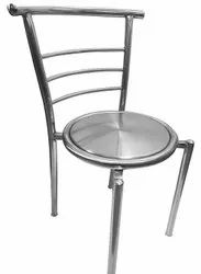 Silver Stainless Steel SS Designer Dining Chair, For Hotel
